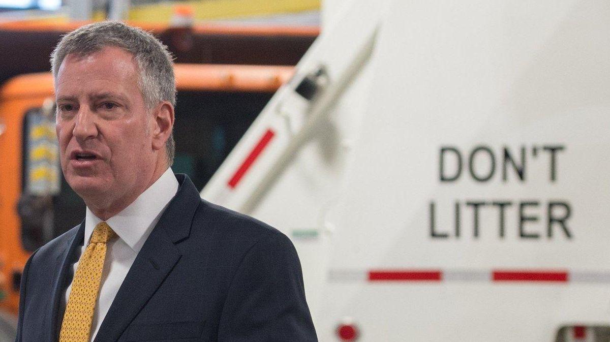 Mayor Bill de Blasio announces CleaNYC, an effort