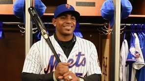 New York Mets Yoenis Céspedes poses for a