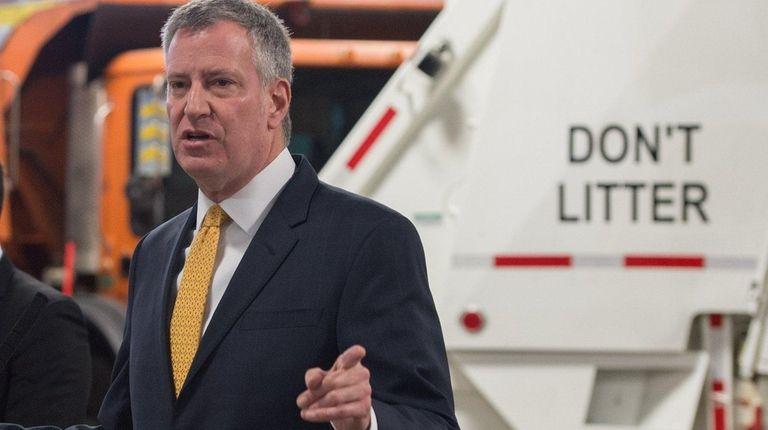 Mayor Bill de Blasio announces CleaNYC, an
