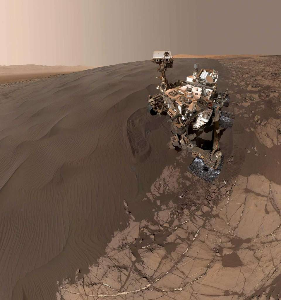 NASA's Curiosity Mars rover is shown at
