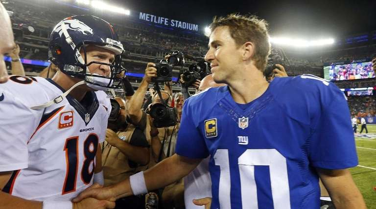Peyton manning gives brother eli a rooting interest in super bowl 50 eli manning of the new york giants and m4hsunfo