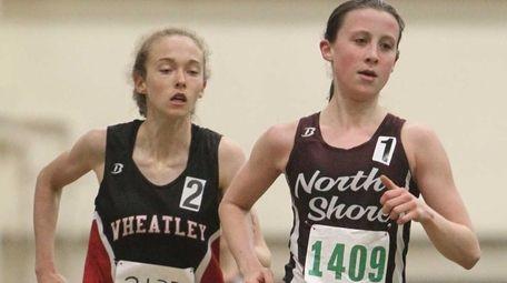 Diana Vizza of North Shore leads the race