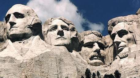 Teddy Roosevelt (second from the right on Mount