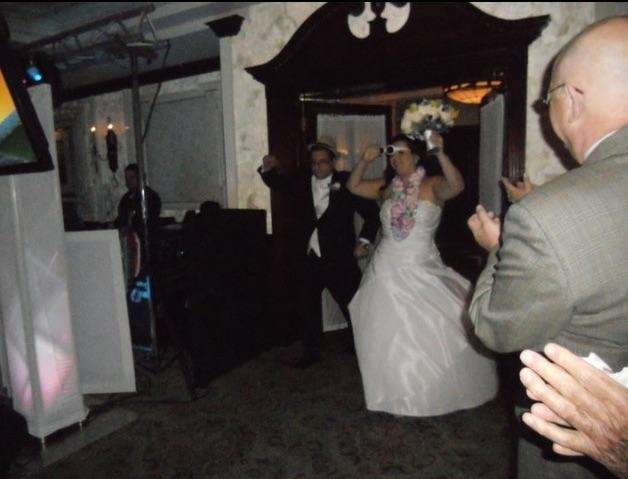 Dancing our way into our awesome wedding, on