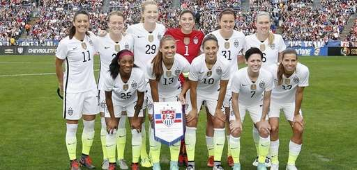The starting lineup for the United States