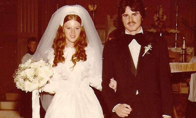 Dennis and Carol, married Oct. 19, 1975, and
