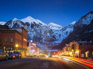 Main Street in Telluride, Colo., which has plenty