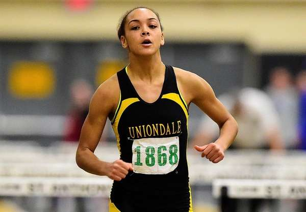 Asia Jinks of Uniondale wins the girls 55-meter