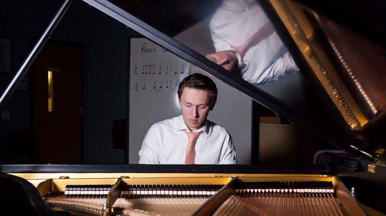 Jazz pianist Sam Towse of Huntington in Studio