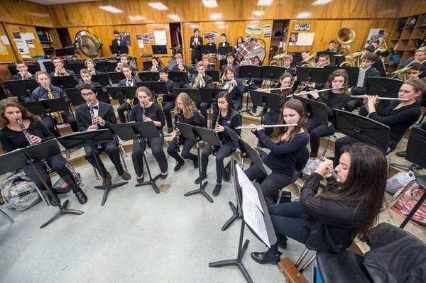 Music students from North Shore High School during