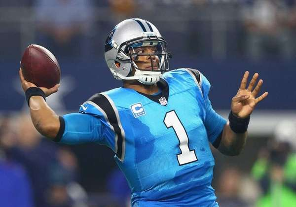 Cam Newton #1 of the Carolina Panthers