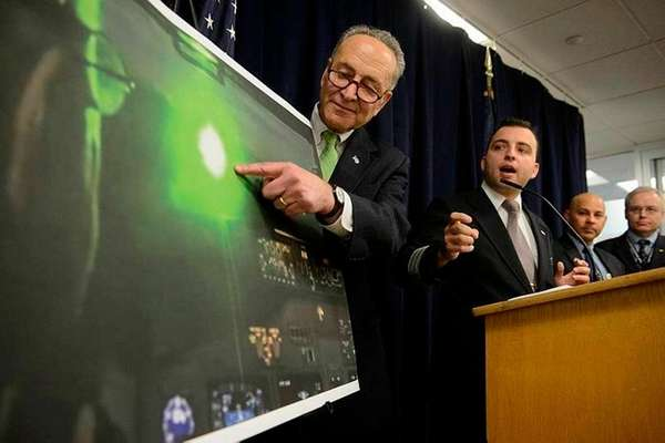 Sen. Chuck Schumer is joined by commercial