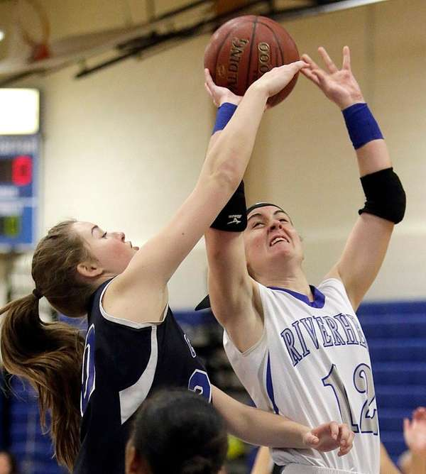 Riverhead's Sam Dunn, who had 21 points and