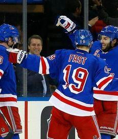 J.T. Miller of the New York Rangers celebrates
