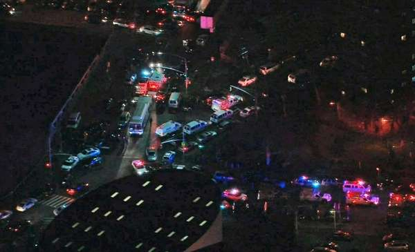 Two on-duty police officers were shot in the