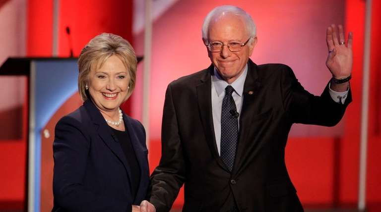 Democratic presidential candidate, Hillary Clinton and Democratic presidential