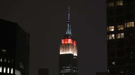 The Empire State Building in Manhattan, on