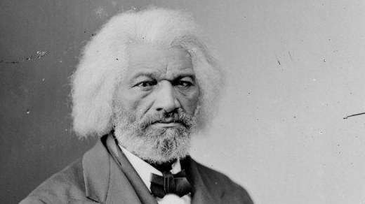 This stereograph of Frederick Douglass was taken and