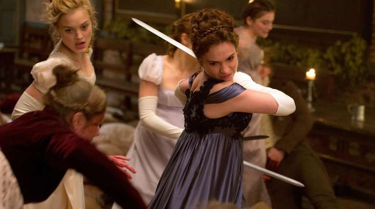 Sword-fighting Lily James won't be foiled in