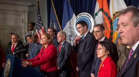 New York City Council Speaker Melissa Mark-Viverito, joined
