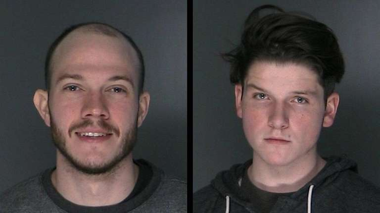 Drake Mandrell, 27, left, of Queens, and William