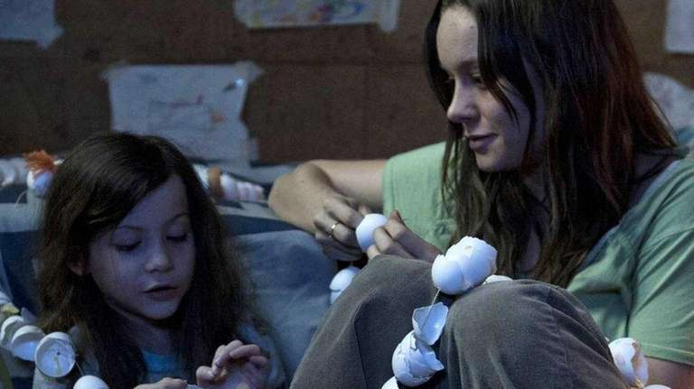 Brie Larson, right, in her award-winning performance