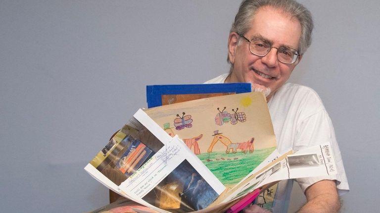 Retired teacher Richard Siegelman with some of the