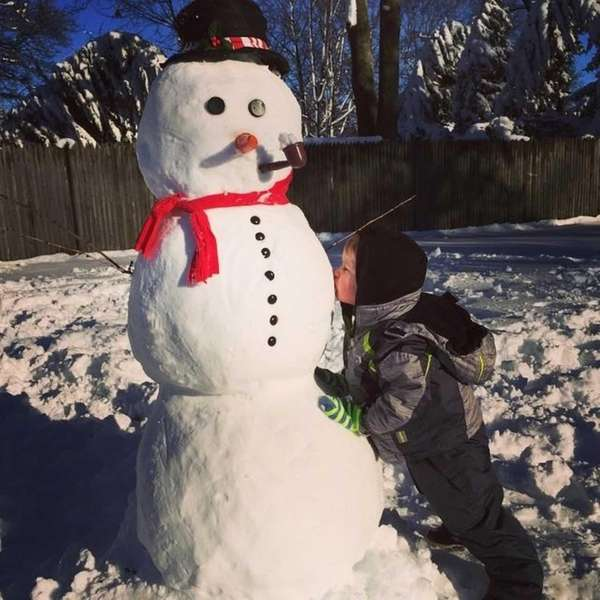 Did you build a snowman today? #kisses for