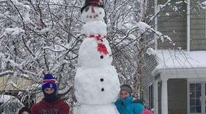 Tallest snowman -- ever? Long Islanders are sharing