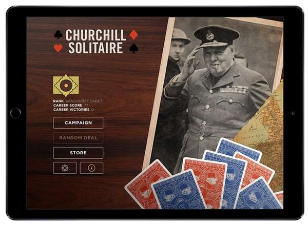 Churchill Solitaire is played with two decks of