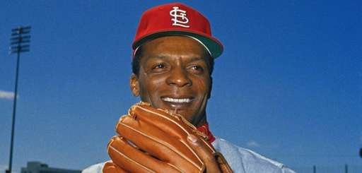 St. Louis Cardinals centerfielder Curt Flood in March