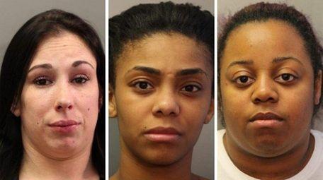 Amanda Minnieer, Chantiel Cox, and Sharonda Hall face
