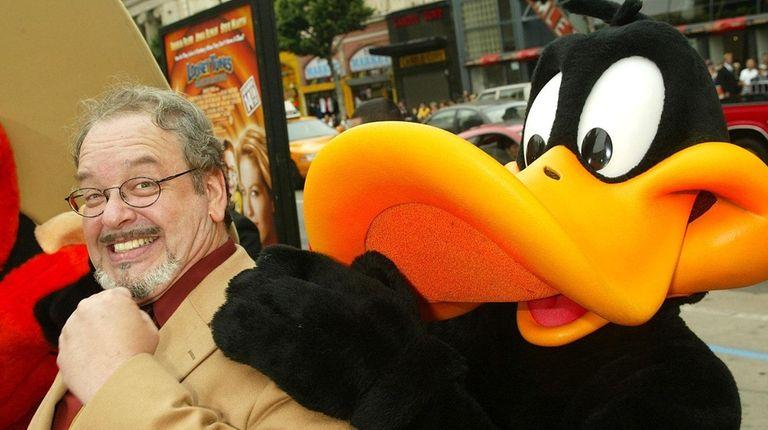 Cartoon voice actor Joe Alaskey arrives at the