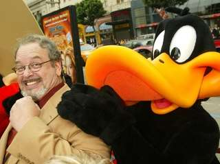 Cartoon voice actor Joe Alaskey arrives at the