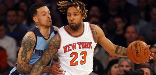 Derrick Williams #23 of the New York Knicks