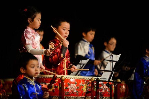 Members of the New York Chinese Drum School