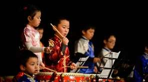 Members of the New York Chinese Drum School