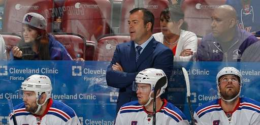 New York Rangers Head coach Alain Vigneault