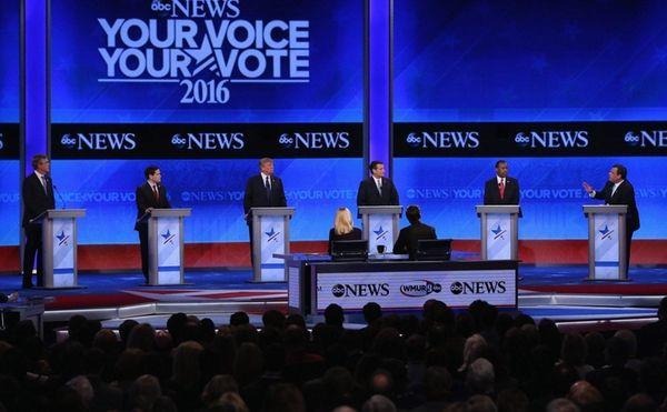 Republican presidential candidates Jeb Bush, Sen. Marco Rubio