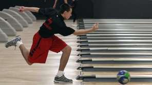Tony Machietto, of Mineola, bowls in the Nassau