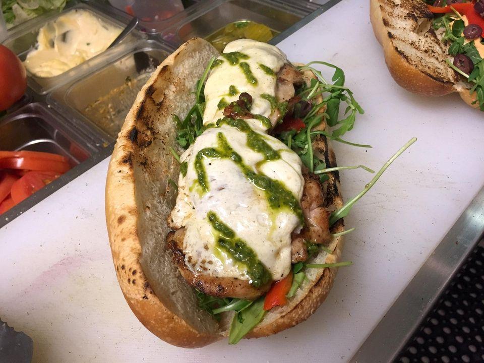 Roast chicken sandwich at Louisiana Joe's Sandwich Shop,