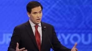 Republican presidential candidate, Sen. Marco Rubio, R-Fla., answers