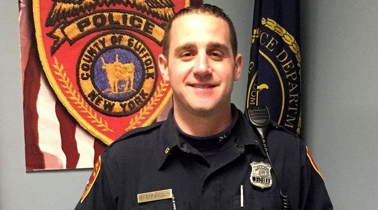 Suffolk Police Officer Bryan Mastrangelo helped a choking