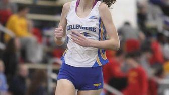 Deirdre Lewin of Kellenberg wins the 1,500-meter run