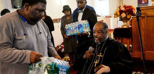 Rev. Arthur L. Mackey Jr. speaks during a