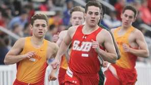 Chaminade's Brandon Mirabella, left, rallied to overtake front-running