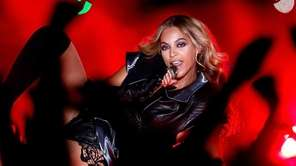Singer Beyonce performs during the Pepsi Super Bowl