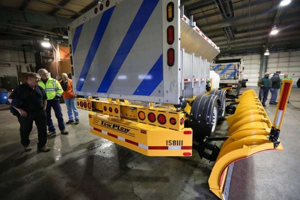 A state-of-the-art tow plow is pictured at