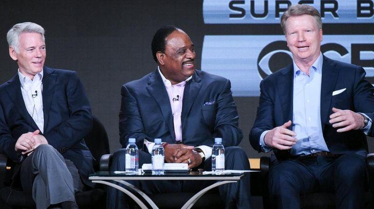 Chairman CBS Sports Sean McManus, from left, sportscasters