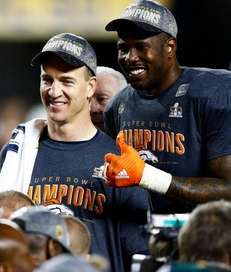 Peyton Manning and Von Miller of the